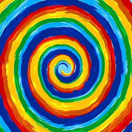 Art rainbow abstract swirl background Ilustração