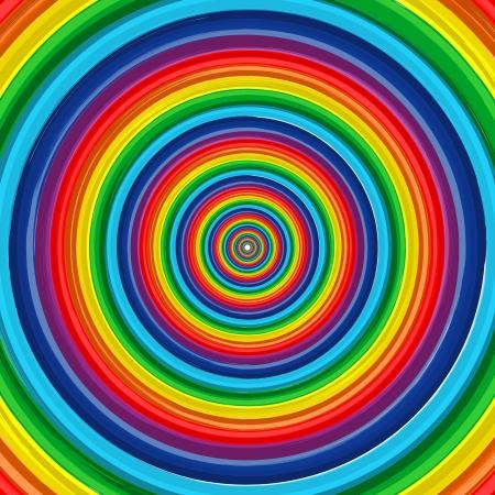 Art regenboog cirkel abstracte achtergrond 10 Stock Illustratie