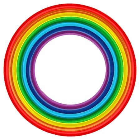 アート虹フレーム抽象的な背景 2