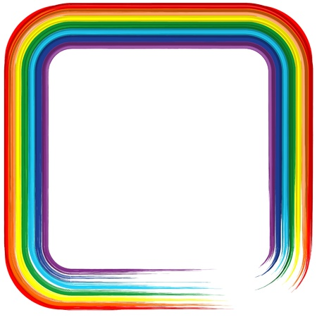 slop: Art rainbow frame abstract background 4 Illustration