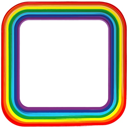Art rainbow frame abstract  background Stock Vector - 16892111