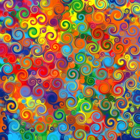 bright colors: Abstract art rainbow circles twirl colorful pattern background