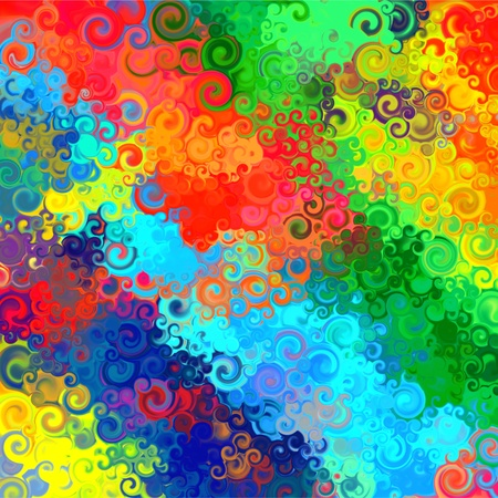Abstract rainbow colorful watercolor swirl art background pattern photo