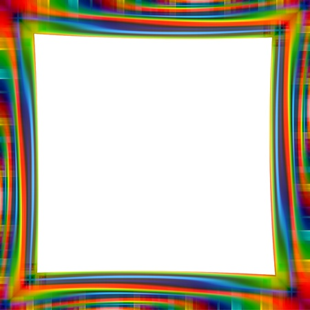 Abstract rainbow frame colorful background illustration Stock Photo