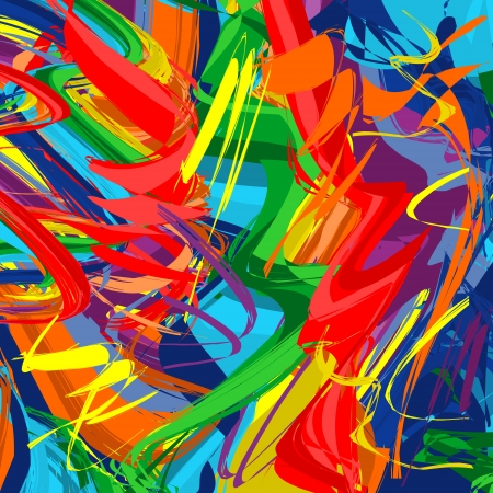 dripping paint: Abstract rainbow colorful  line background