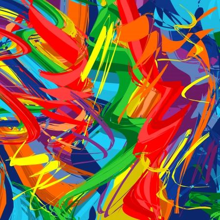 peinture blanche: Abstrait arc-en-ligne color�e Illustration