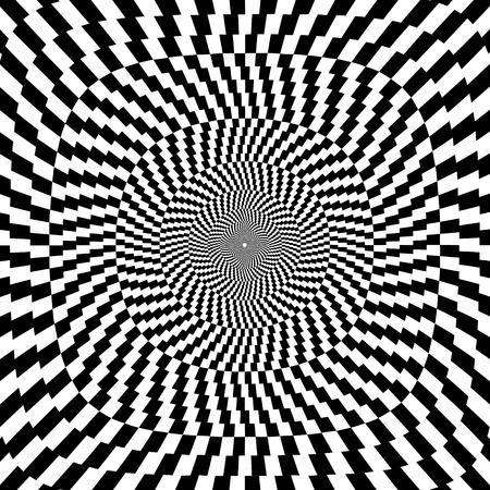 illustration of optical illusion black and white background