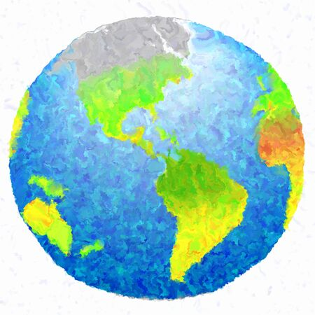 environment geography: 3d art earth grunge paint isolated background