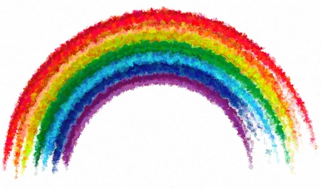 虹クリエイティブアブストラクト ペイント アート分離背景
