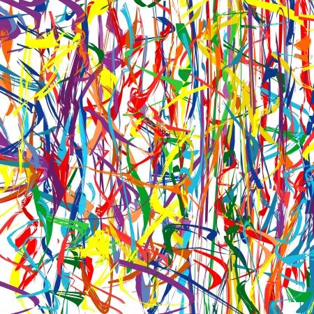 抽象的な虹色鮮やかな曲線ライン背景