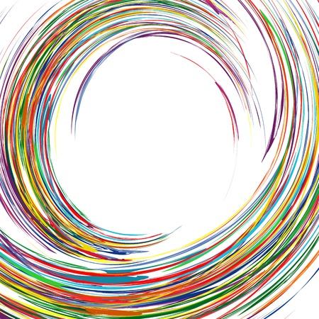 抽象的な虹湾曲ライン カラフルな背景とテキストのための場所  イラスト・ベクター素材
