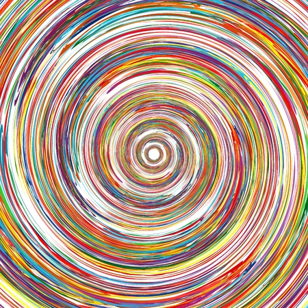 colour splash: Abstract rainbow curved lines circle colorful background