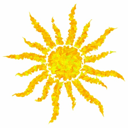 sun flares: Art drawing colorful grunge sun isolated abstract background