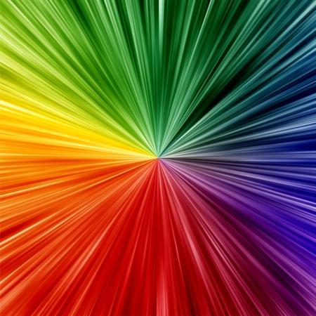 アート虹色のズーム背景を抽象化します。