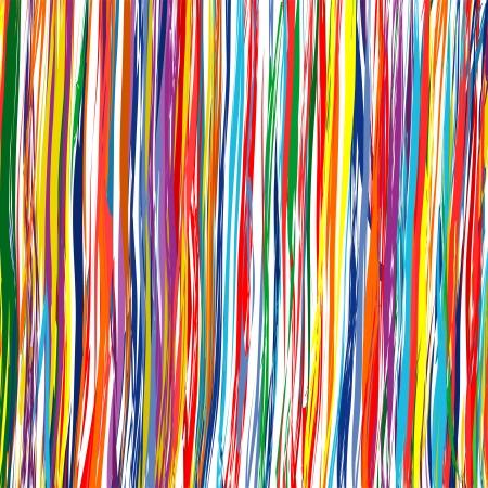 abstracto: Líneas del arte abstracto de arco iris de colores de fondo curvas 7 Vectores