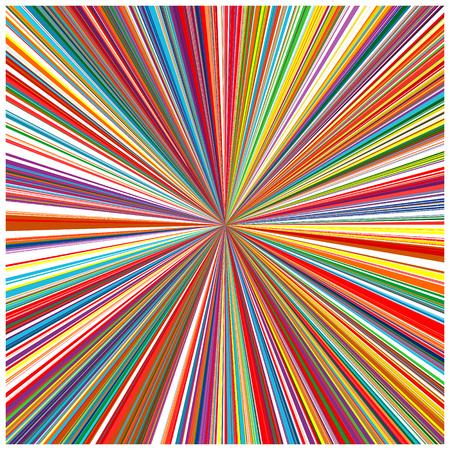 arte abstracto: Líneas del arte abstracto de arco iris de colores de fondo curvas 10