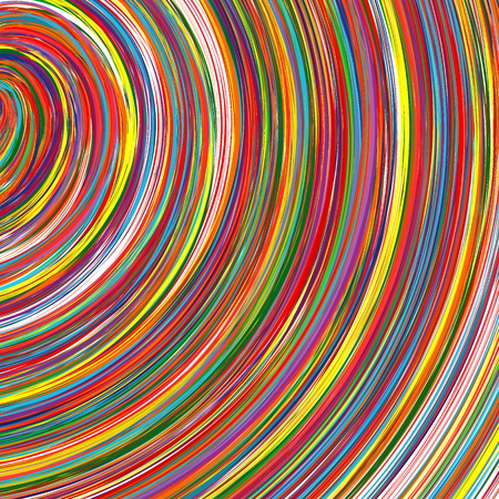 Abstract art rainbow curved lines colorful background 17 Vector