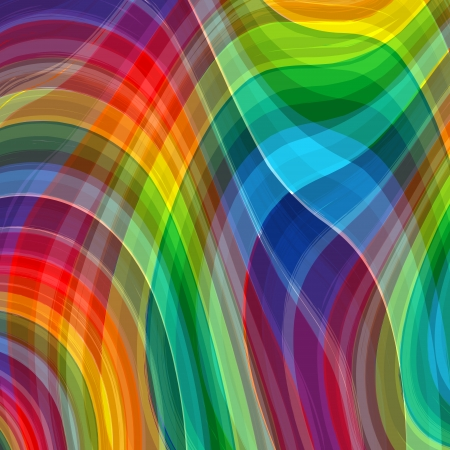 Art abstract rainbow color curved vector background 3 Vector