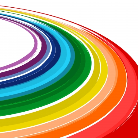 Art abstract rainbow color curved vector background 4 Vector