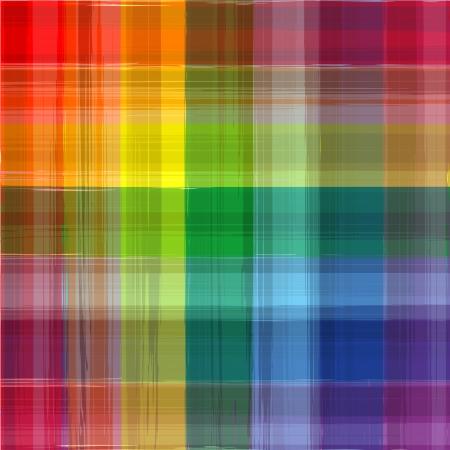 格子縞の背景を描画抽象虹色  イラスト・ベクター素材