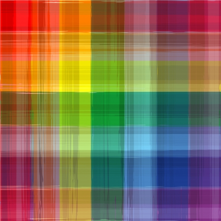 Abstract rainbow color drawing plaid background Vector