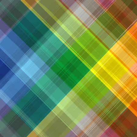 Abstract rainbow color drawing plaid diagonal background Vector