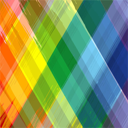 Abstract rainbow color drawing plaid diagonal background 2 Vector