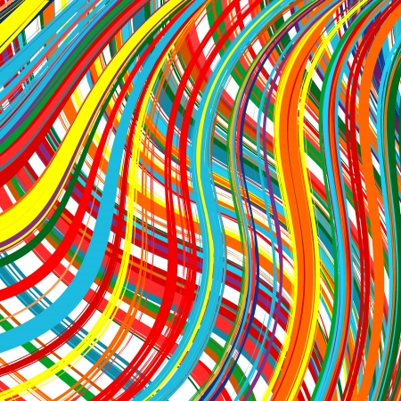 Abstract art rainbow curved lines color vector background 17 Vector