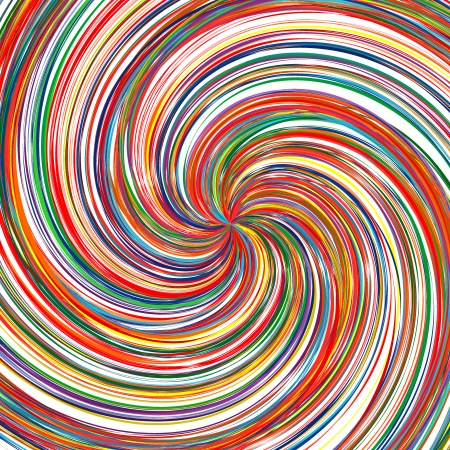 rainbow vector: Abstract art rainbow curved lines swirl color vector background 19 Illustration