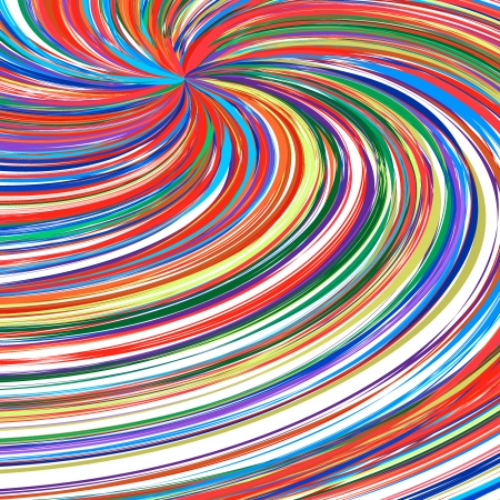 Abstract art rainbow curved lines colorfull vector background 10 Vector