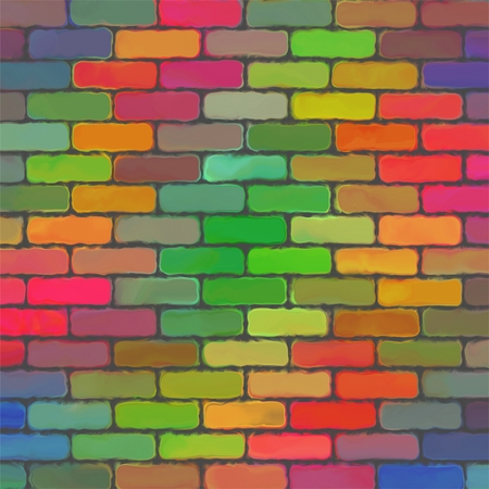 bilding: Abstract color paint pattern art brick wall background