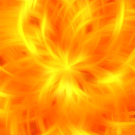 Abstract orange color fire rays background