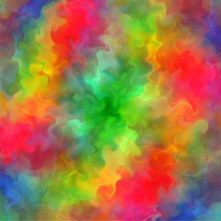 tehnology: Abstract rainbow color paint fractal art background