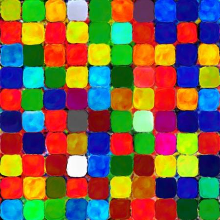 pallette: Résumé arc-en-couleur de peinture motif mosaïque palette fond