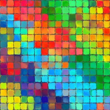 pallette: Abstract rainbow peinture de couleur motif mosaïque palette fond