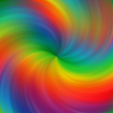 Abstract rainbow color swirl background photo