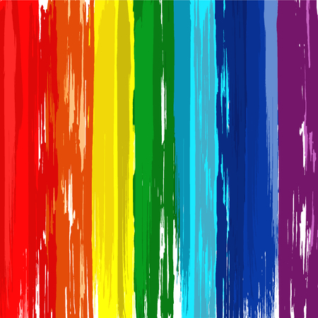 Art rainbow brush abstract color background