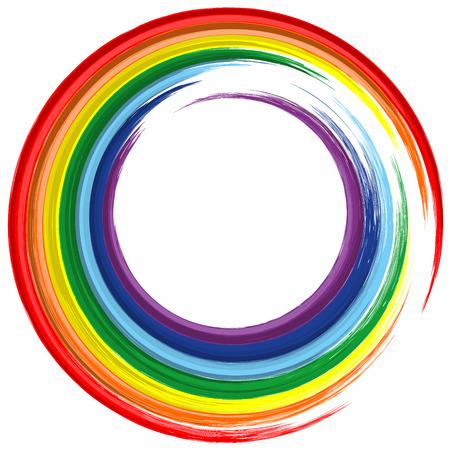 Kunst Regenbogen-Farbkreis-Frame-abstrakten Spritzlackhintergrund