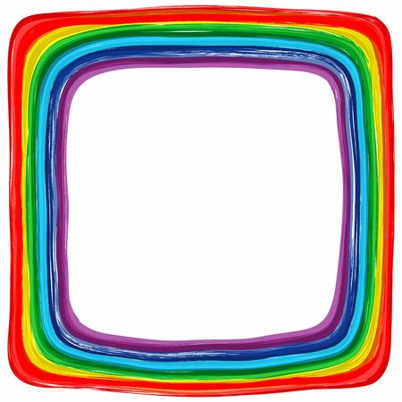 slop: Art rainbow color frame abstract splash paint background 2 Illustration