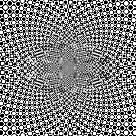 Vector zoom black and white optical circle background 2