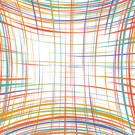 curved line: Abstract rainbow curved stripes color line background 1