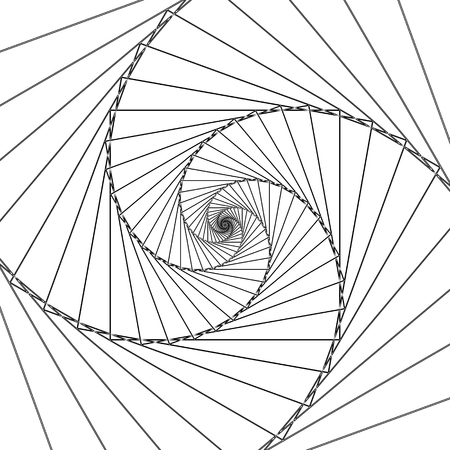 Abstract spiral lines black and white vector background Illustration