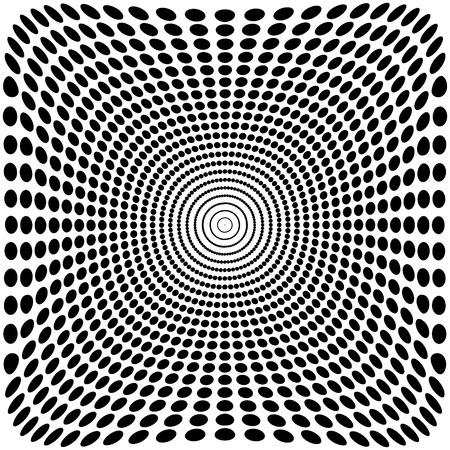 Vector optische Täuschung Zoom schwarz-weißem Hintergrund 2