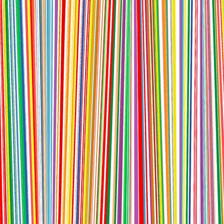抽象的なレインボー カーブ ストライプ色線垂直背景