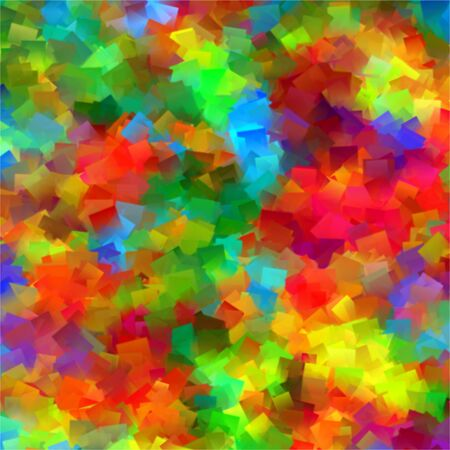 Abstract rainbow color geometric pattern background Stock Photo