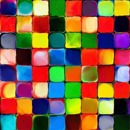 splodge: Abstract rainbow color tiles paint geometric pattern art background