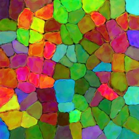 pallette: arc-en-art mur de pierre de couleur peinture texture fond Banque d'images