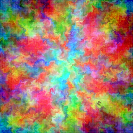 Abstract rainbow color paint splash art grunge background on canvas