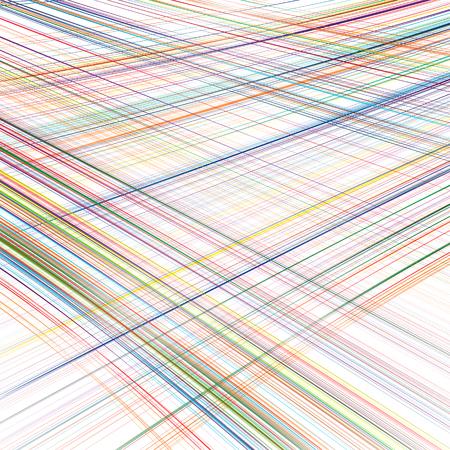 湾曲した抽象的なレインボー ストライプ色線美術背景  イラスト・ベクター素材