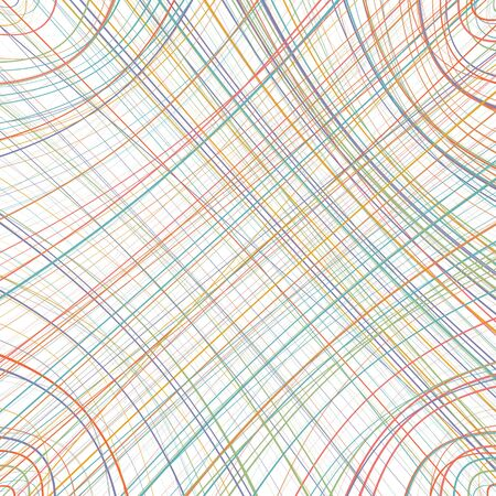 blue stripes: Abstract rainbow curved stripes color line art background Illustration